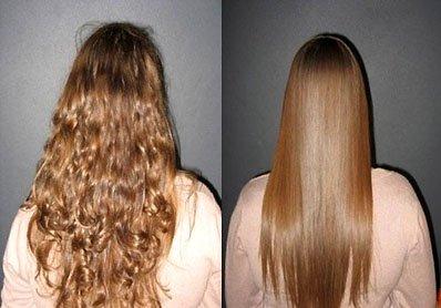 Волосы после выпрямления утюжком фото