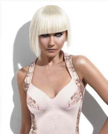 Стрижка каре блондинка