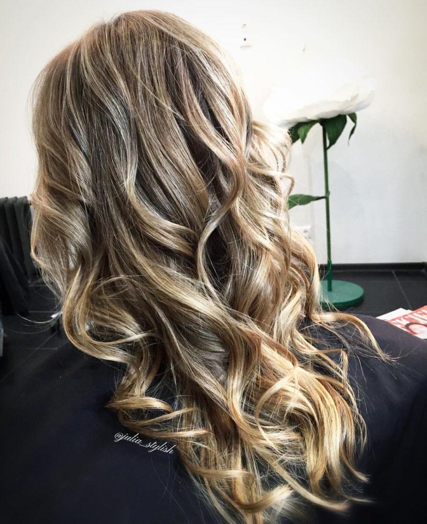 Мягкие волны на длинные волосы