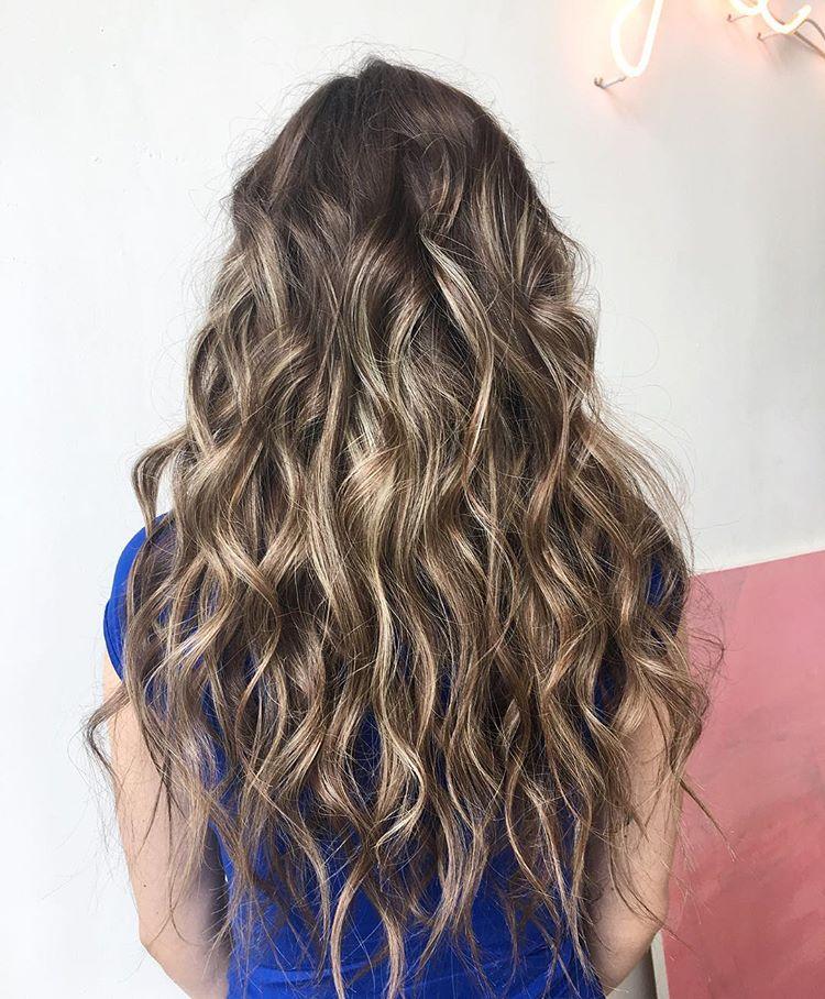 Мягкие волны на длинные волосы фото