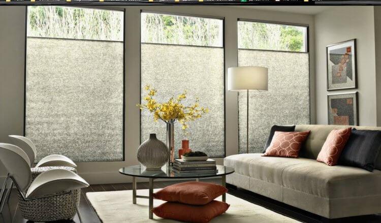 фото современных штор в гостинную