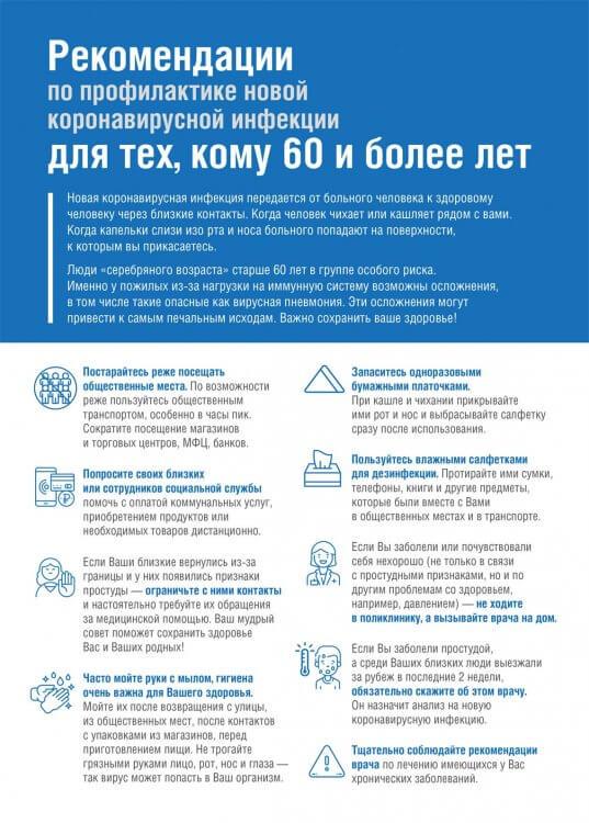 профилактика коронавируса для пожилых людей