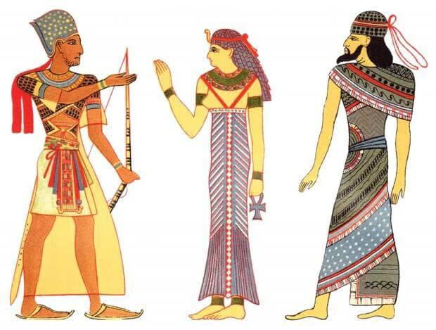 Яркая женская одежда в доисторические времена